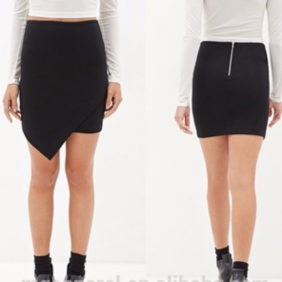 17509e8e1 Forever 21 Skirts | Slit Mini Skirt | Poshmark